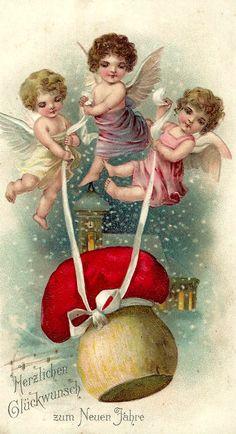 Antique Angels postcard.