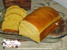 Espaço das delícias culinárias: Pão de forma de cenoura, massa feita na MFP