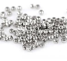 DoreenBeads Lovely Crimp Beads Silver Tone 1.5mm,3000PCs (B22224)