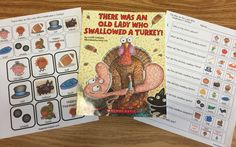 """There Was An Old Lady Who Swallowed a Turkey!"" with Freebies - The Autism Helper"