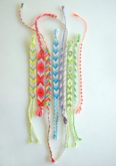 Friendship bracelets  #summer #crafts
