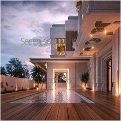 Soon in uae by Sarah sadeq architects Dubai Architect Logo, Architect House, Villa Design, Modern House Design, Plafond Design, Famous Architects, Facade House, Pool Designs, Ceiling Design