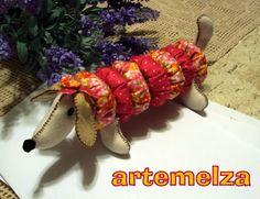 ARTEMELZA - Arte e Artesanato: Feltro - cachorrinho basset de fuxico