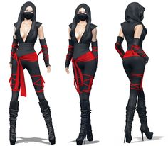 https://flic.kr/p/y4eGYG | Womens Ninja Costume | marketplace.secondlife.com/p/Meli-Imako-Full-Perm-Mesh-Wo...