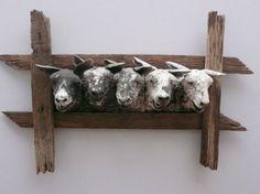 Ceramic Animals, Clay Animals, Ceramic Design, Ceramic Art, Animal Sculptures, Sculpture Art, Sheep Art, Muse Art, Ceramic Figures