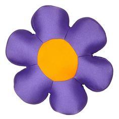 """Fun Cute All Year Round Super Squishy & Soft Flower Decorative Throw Micro-Bead Cushion Pillow - Purple - 18"""""""