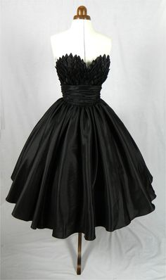 Channelling Black Swan/Alluring intricacy 50s inspired ball dress with by elegance50s