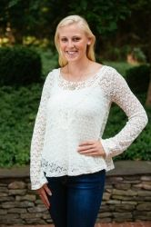 Find this sweater here!  http://www.lizabyrd.com/product/1674/Ladies/Jackets+and+Sweaters/The+Kendall++Crochet+Sweater+in+Cream