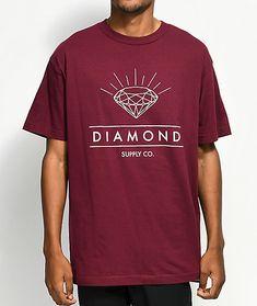 a773969a7508 Diamond Supply Co. Radiance Burgundy T-Shirt