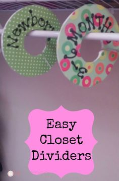 DIY Closet Divider - Pink Oatmeal