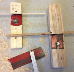 Paul Grundbacher's dowel makers