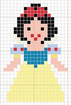 Luvs 2 Knit: Snow White Disney Princess perler beads pattern
