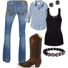 my county work style, created by tishapol on Polyvore
