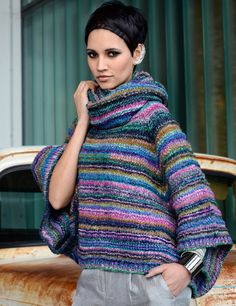 Don't like the colors but love the large sleeves ;) (NORO pattern)