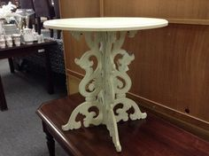 Occasional Table - Cream coloured table   Item  506-33.  Price. $70.00    - http://takeitorleaveit.co/2014/07/21/occasional-table/