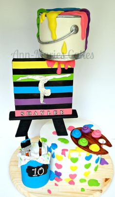 Shaylee's Paint Party - Cake by Ann-Marie Youngblood