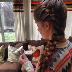 braids and hot chocolate! We just love the holidays!