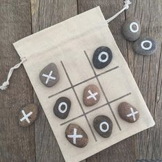 - Just made some fun stone Tic Tac Toe games! ✨Go get a set on my Etsy shop whil… Just made some fun stone Tic Tac Toe games! ✨Go get a set on my Etsy shop while you still can! ✨ The grand opening sale is still going and… Stone Crafts, Rock Crafts, Crafts To Make, Arts And Crafts, Christmas Games For Kids, Christmas Crafts, Christmas Ideas, Homemade Gifts, Diy Gifts
