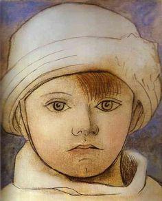 Retrato de Pablo Picasso niño.
