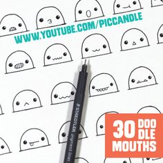 30 cute / kawaii mouths to doodle | watch the video on www.youtube.com/piccandle