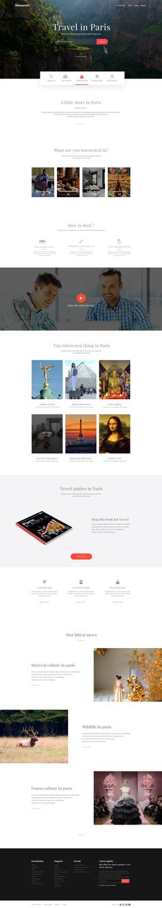 Travel in Paris – Landing page by zihad