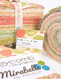 Sweet Springtime colors in Mirabelle by Fig Tree for Moda Fabrics