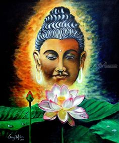 Title:Lord Buddha; Artist Name:Saroj Meher; Description:An acrylic painting based on spiritual....; Art Form:Paintings; Style:Fine Art; Media:Acrylic; Genre:Figurative