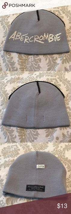 Abercrombie and Fitch beanie Abercrombie and Fitch beanie, no tag but never used, 100% acrylic. Light baby blue. Abercrombie & Fitch Accessories Hats
