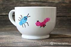 """Daddy's Little Creatures"" Fingerprint Mug - Down Home Inspiration"