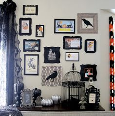 Halloween Wall of Frames... for Pennies!