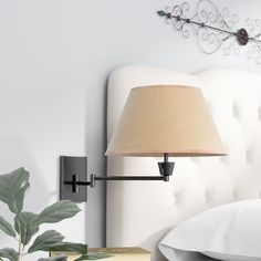Pairing a traditional design with a practical functionality, this lovely one-light wall sconce brings illuminating appeal to your space. Made from metal in a matte black finish, this dapper design features Bedside Lighting, Bedroom Lighting, Wall Sconce Lighting, Bedside Wall Lights, Cabin Lighting, Pendant Lighting, Bedroom Lamps, Bedroom Wall, Master Bedroom