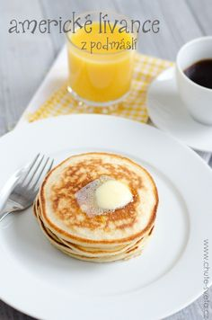 Americké lívance Czech Recipes, Crepes, Sweet Recipes, Ham, Pancakes, French Toast, Picnic, Food And Drink, Baking