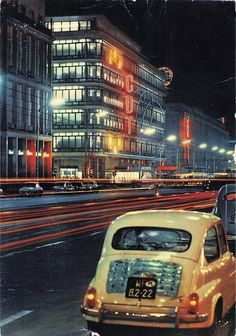 Warszawa, lata al. East Germany, Lost In Space, Door Signs, Modernism, Homescreen, Poland, Times Square, Beautiful Places, Photos
