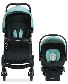 The Graco Verb Click Connect Travel System makes maneuvering around town with your little one more pleasurable. The Verb travel system includes a lightweight stroller and the top-rated SnugRide Click