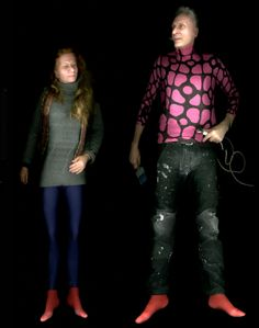"""""""My People - My reality 1:1"""" - 13 life-sized full body scans of friends, girlfriends and family members."""