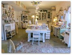 I WANT this room!!  I have the space, I just need to revamp and get it pretty!!  (Where women create 212)
