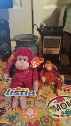 ORIGINAL BEANIE BABIES TWISTY AND TEENIE BEANIE SCHWEETHEART