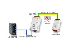 Tiny (isolated) Modbus TCP to Modbus RTU / ASCII Gateway with Power over Ethernet option and 1 RS-422/485 port. With +/-4 kV ESD Protection. Supports Operating Temperatures between -25°C to +75°C (-13°F ~ 167°F). DIN Rail Mountable. Learn more: http://www.icpdas-usa.com/tgw_715i.html?r=pinterest