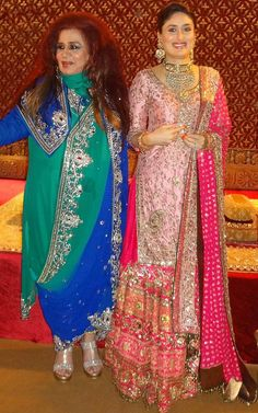 Bollywood, Tollywood & Más: Kareen a Kapoor & Saif Ali Khan Delhi Wedding Reception Pakistani Bridal Wear, Pakistani Dress Design, Pakistani Wedding Dresses, Indian Wedding Outfits, Pakistani Outfits, Indian Dresses, Indian Outfits, Sharara Designs, Lehenga Designs
