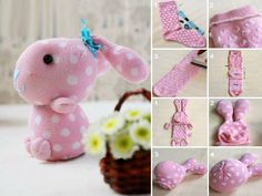 Sock Bunny Craft Tutorial - #art, #diy, craft