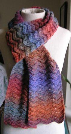 Gentle waves scarf ~ free pattern ᛡ