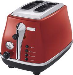 DeLonghi - 2-Slice Toaster - Red