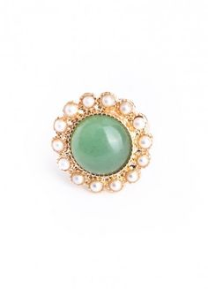 id like something real jade that wasn't a Buddha or something tribal... something cute and delicate Pearl Jade Cocktail Ring ($10)