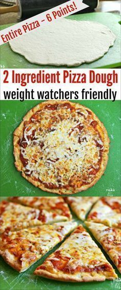 Find out how to make this Weight Watchers friendly 2 Ingredient Pizza Dough. You can have an entire pizza (with toppings) for 6 Freestyle Points! It tastes amazing and you won't feel deprived at all!