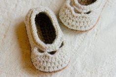 Yoke Ballet Booties Crochet Patterns