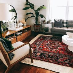 14 ways to refresh a tired-looking living room rug size guide. Whether you're looking for your living room, dining, or bedroom Ways to Make Your Small Living Room Feel Bigger Eclectic Living Room, Boho Living Room, Interior Design Living Room, Living Room Designs, Living Spaces, Bohemian Living, Oriental Living Room Decor, Carpet In Living Room, Red Persian Rug Living Room