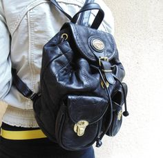 Bellini Deluxe italian leather mini backpack vintage by SunnyCsc