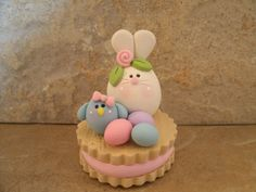 Bunny, Bluebird and Easter Cookie. $13.95, via Etsy.