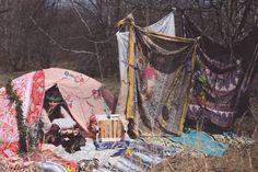 Festival camping setup