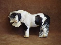 Original Sculpture Resin Pinto Pony/Mini Horse magnet by Jenn Read.